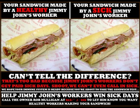 Jimmy John's sick