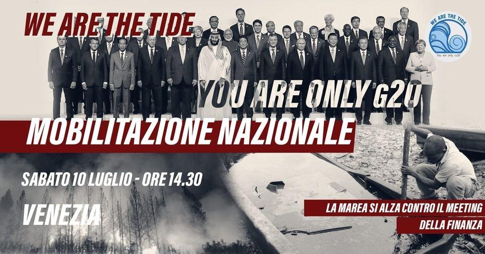 No G20 Venezia 10 luglio