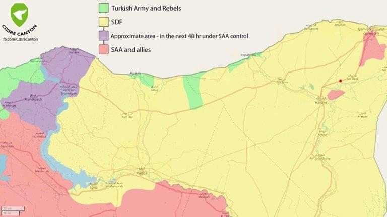 mappa offensiva turca