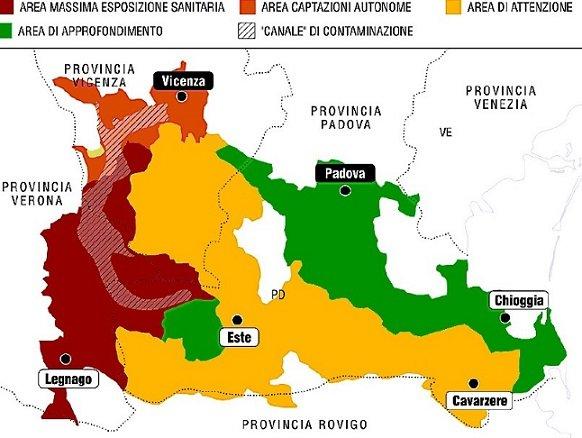 Mappa Pfas