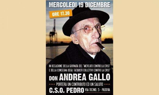 Padova don gallo al mercato contro la crisi for Pedro padova