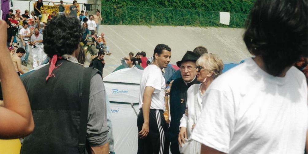 Genova 2001 Olol, Don Gallo, Franca Rame