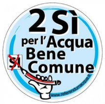 logo 2 sì per l'acqua