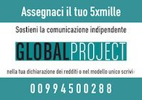 Logo 5 per mille a Global Project