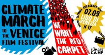 «We want the red carpet». Climate March to the Venice Film Festival on 7 September 2019