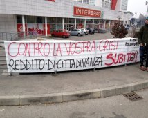#occupysunday Vicenza- Bloccate le casse del supermercato