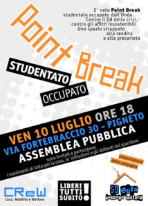 Assemblea Cittadina - A Roma nasce Point Break, studentato occupato e autogestito