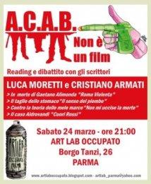 ACAB non è un film - locandina disegnata da Toni Bruno