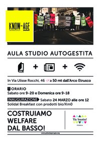 Perugia - Laboratorio Know-Age: inaugurazione aula studio autogestita