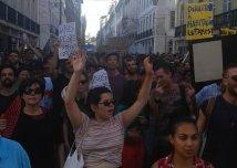 Lisbona in rivolta. Una manifestazione per il diritto all'abitare.