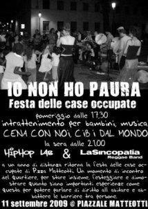 Festa delle case occupate in piazzale Matteotti